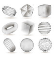 digital geometric shapes set vector image