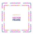 Ethnic frame vector image