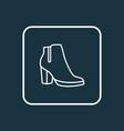 female boots outline symbol premium quality vector image