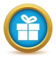 Gold gift icon vector image