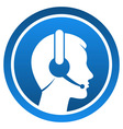 Headset Contact Icon vector image