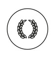 laurel wreath victory icon vector image