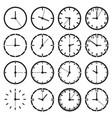 o clock icon set vector image