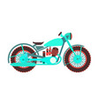 retro motorcycle logo design template vector image