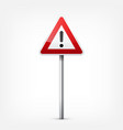 road red signs collection isolated on white vector image