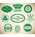 Set of vintage eco labels Collection 1 vector image