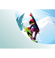 snowboarder rider freestyle vector image