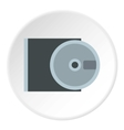 CD rom and disk icon flat style vector image vector image