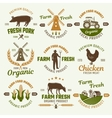 Farm Products Retro Style Emblems vector image