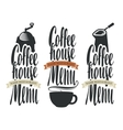 set of logos for coffee house menu vector image