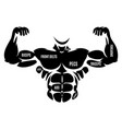 male athletic black body silhouette vector image