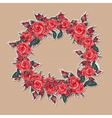 Floral frame with roses and butterflies vector image