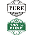 Stamp Pure vector image