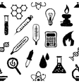 doodle seamless laboratory pattern vector image