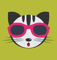 Cat glasses vector image vector image