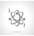 Atom model flat line icon vector image