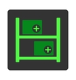 Medical Warehouse Flat Button vector image