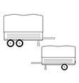 Car trailer icon vector image