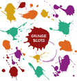 blots color vector image