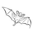 cartoon image of halloween bat vector image