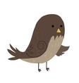 Cartoon sparrow flat icon vector image