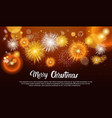 christmas fireworks bursting and sparkling against vector image