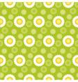 daisy green seamless pattern vector image