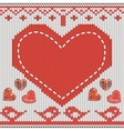 knitted heart vector image