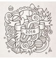 New year doodles elements background vector image