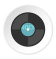 vinyl icon circle vector image