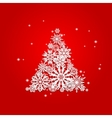 Christmas and New Years red background with Tree vector image