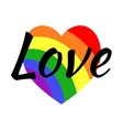 Gay LGBT rainbow love greeting card vector image