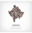 people map country Kosovo vector image