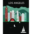 Los Andgeles California vector image