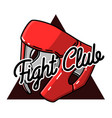 color vintage fight club emblem vector image