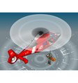 Isometric Emergency Helicopter in Rescue vector image vector image