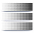 halftone abstract 3d banners collection on white vector image vector image