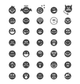 emotion face icons vector image vector image