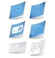 Architecture background sticker set vector image