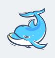 Dolphin sea life vector image