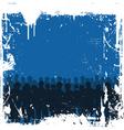 Grunge crowd vector image