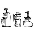 juicer sketch squeezer doodle vector image
