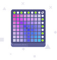 launchpad midi controller flat line art vector image