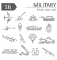 Military icon set Thin line design vector image