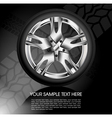 Shiny car wheel vector image vector image