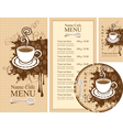 design for the cafe vector image