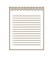 note page icon vector image