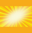 spot light on the yellow retro background vector image
