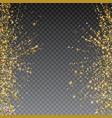 festive explosion of confetti gold glitter vector image