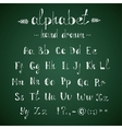 Alphabet and punctuation chalkboard vector image